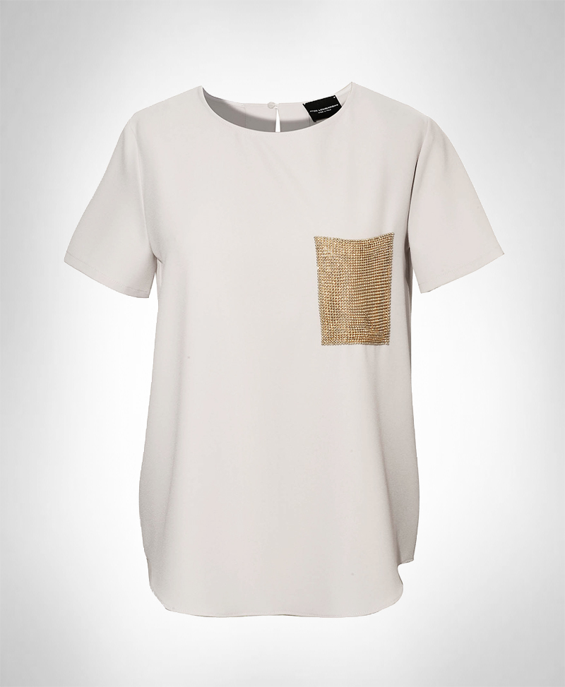 Atos Lombardini Gold Pocket Blouse ...