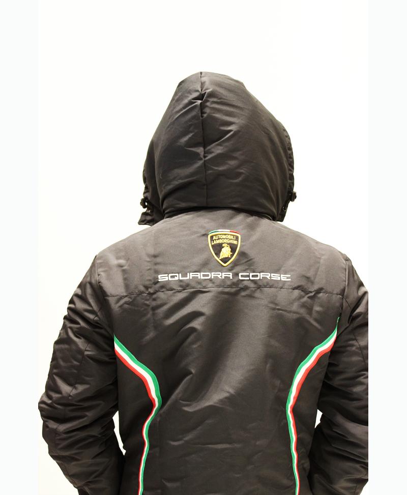 Lamborghini Unisex Winter Jacket Black Initiatives Plus Trading L L C